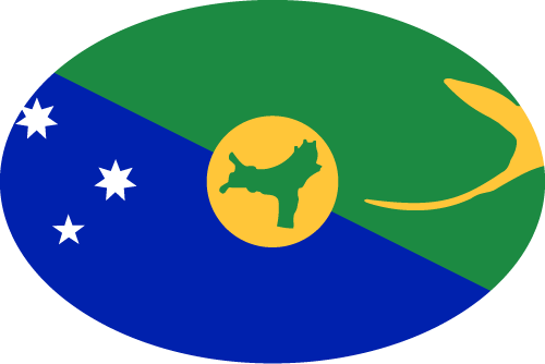 Vector flag of Christmas Island - Oval