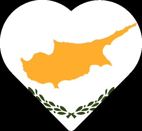 Vector flag of Cyprus - Heart