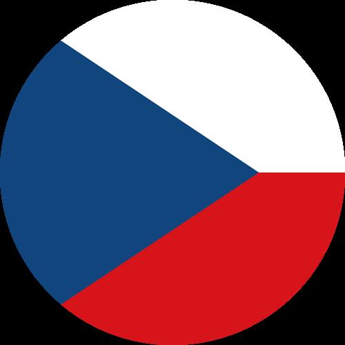 Vector flag of the Czech Republic - Circle