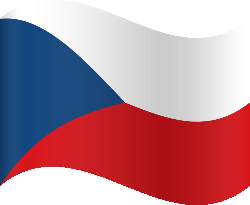 Vector flag of the Czech Republic - Waving