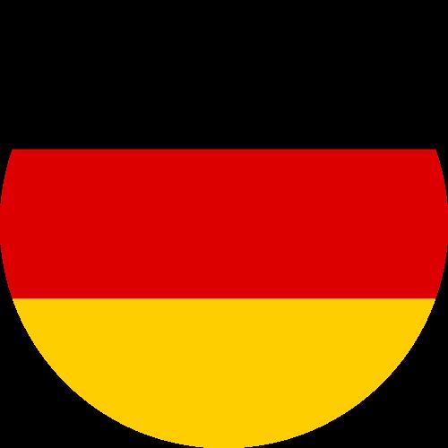 Vector flag of Germany - Circle