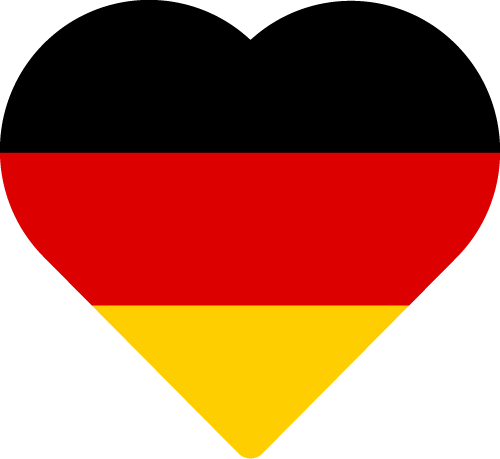 Vector flag of Germany - Heart