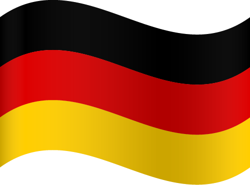 Vector flag of Germany - Waving