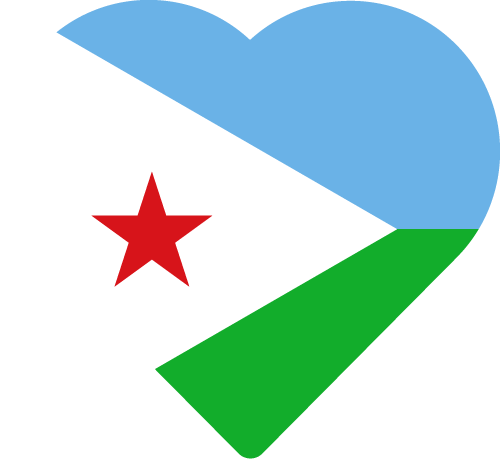 Vector flag of Djibouti - Heart