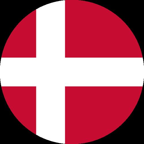 Vector flag of Denmark - Circle
