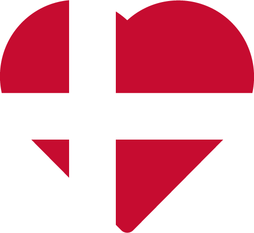 Vector flag of Denmark - Heart