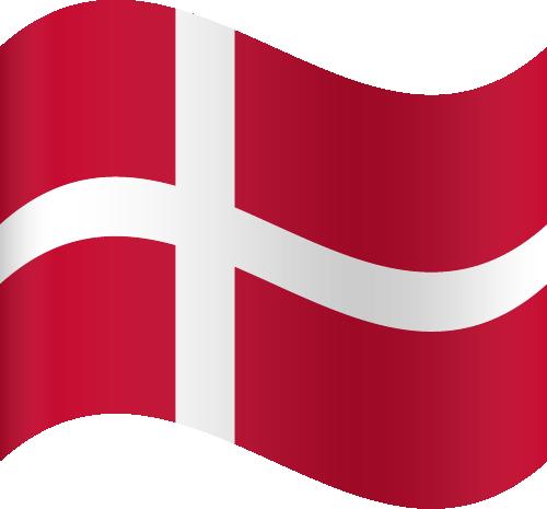 Vector flag of Denmark - Waving
