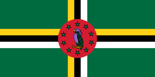 Vector flag of Dominica