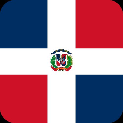 Vector flag of the Dominican Republic - Button