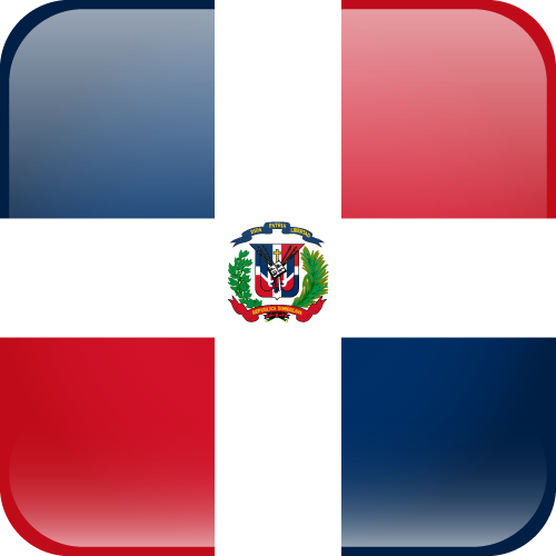 Vector flag of the Dominican Republic - Cube