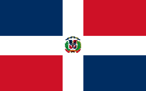 Vector flag of the Dominican Republic