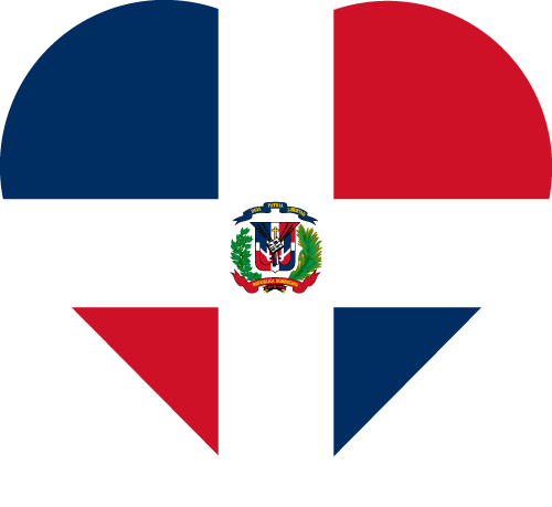 Vector flag of the Dominican Republic - Heart