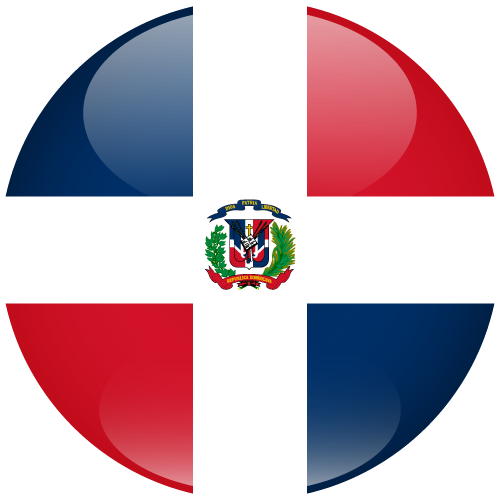 Vector flag of the Dominican Republic - Sphere