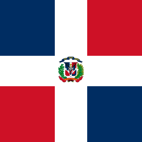 Vector flag of the Dominican Republic - Square