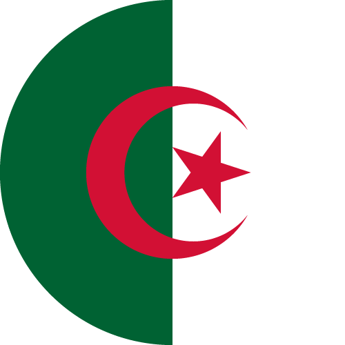 Vector flag of Algeria - Circle