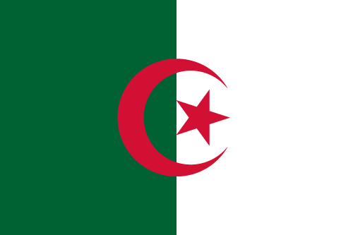 Vector flag of Algeria
