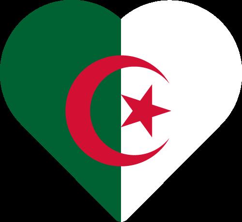 Vector flag of Algeria - Heart