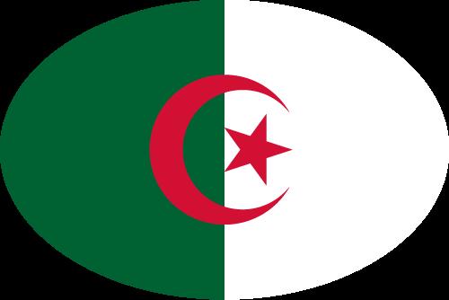 Vector flag of Algeria - Oval