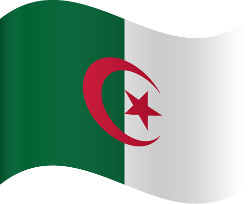 Vector flag of Algeria - Waving