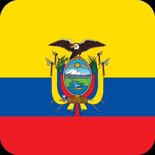 Vector flag of Ecuador - Button