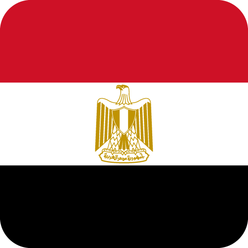 Vector flag of Egypt - Button