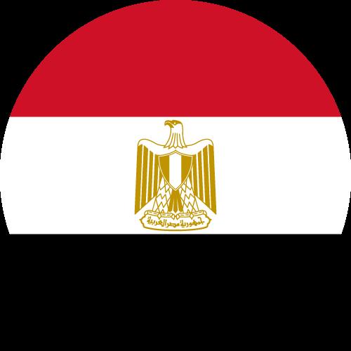 Vector flag of Egypt - Circle