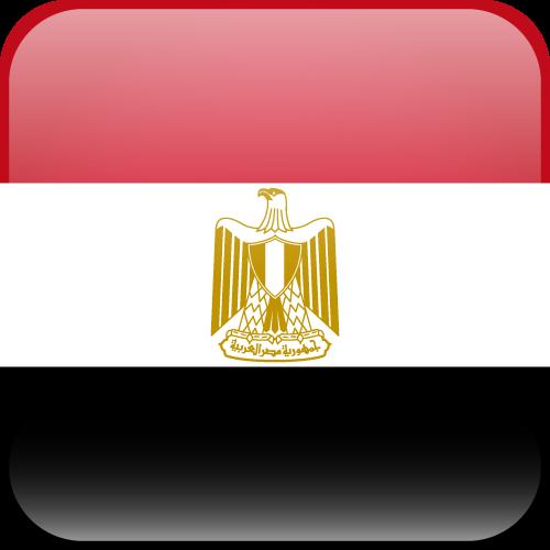 Vector flag of Egypt - Cube