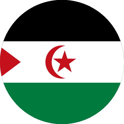 Vector flag of Western Sahara - Circle