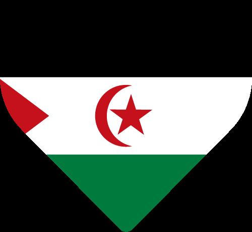 Vector flag of Western Sahara - Heart