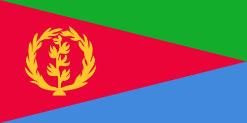 Vector flag of Eritrea
