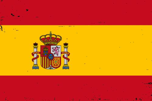 Vector flag of Spain - Grunge
