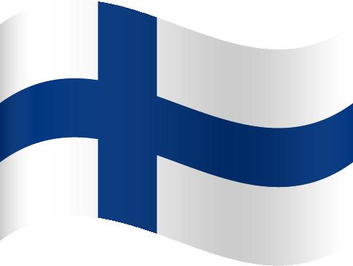 Vector flag of Finland - Waving