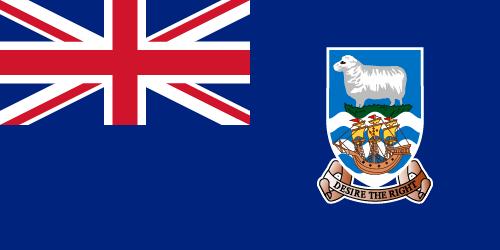 Vector flag of the Falkland Islands