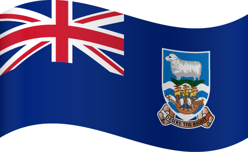 Vector flag of the Falkland Islands - Waving