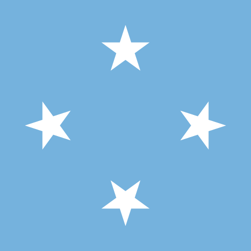 Vector flag of the Federated States of Micronesia - Square