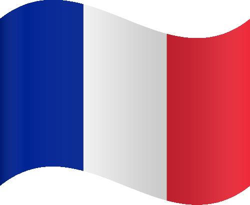 Vector flag of France - Waving