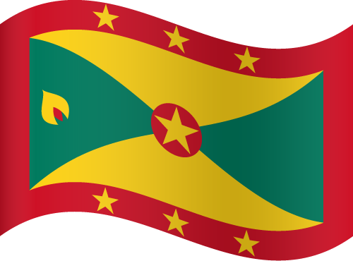 Vector flag of Grenada - Waving