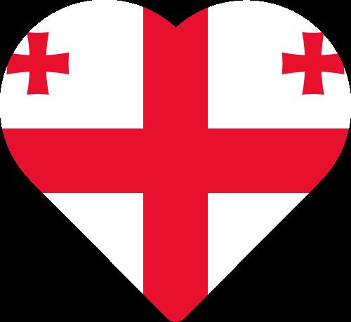 Vector flag of Georgia - Heart