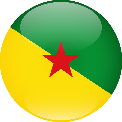 Vector flag of French Guiana - Sphere