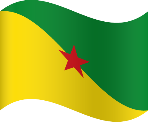 Vector flag of French Guiana - Waving