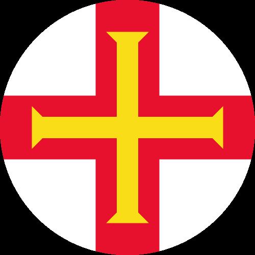 Vector flag of Guernsey - Circle