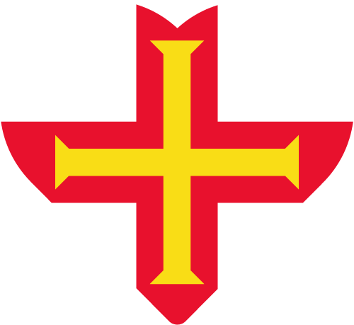 Vector flag of Guernsey - Heart