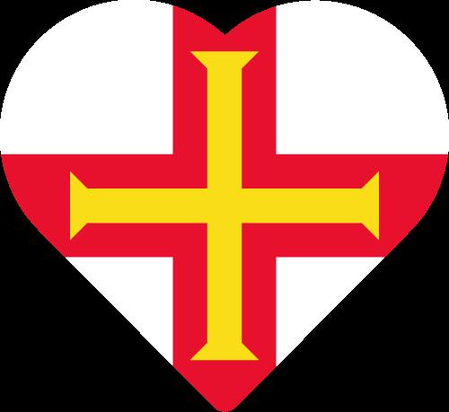 Vector flag of Guernsey - Heart