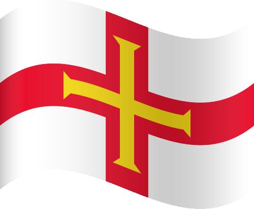 Vector flag of Guernsey - Waving