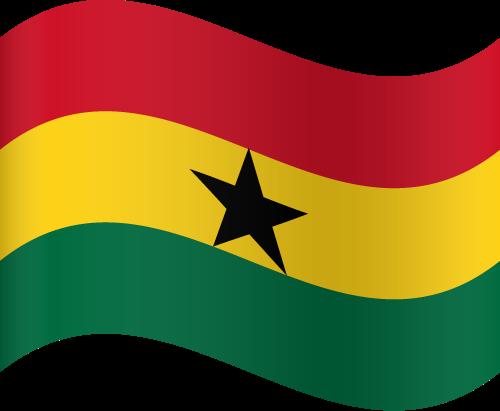 Vector flag of Ghana - Waving