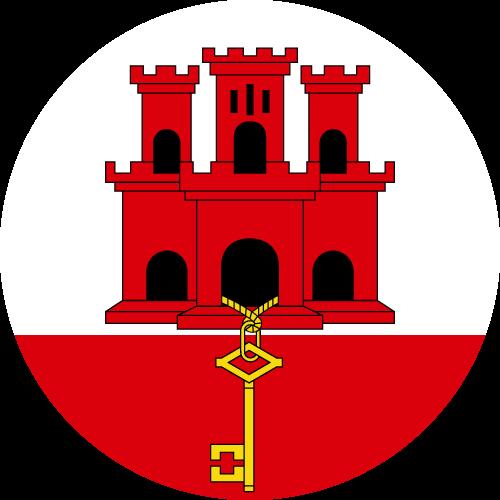 Vector flag of Gibraltar - Circle