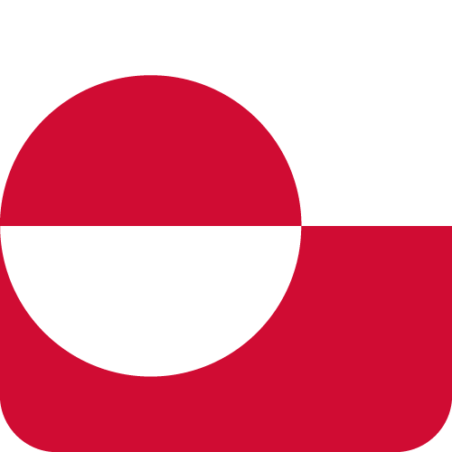 Vector flag of Greenland - Button