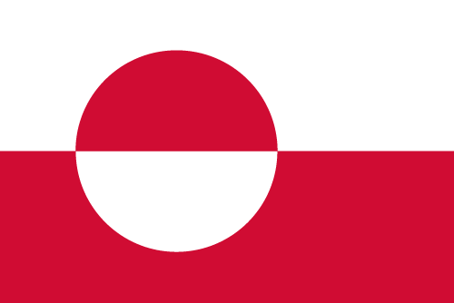 Vector flag of Greenland