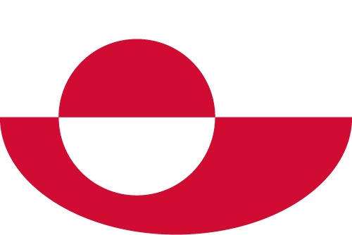 Vector flag of Greenland - Oval