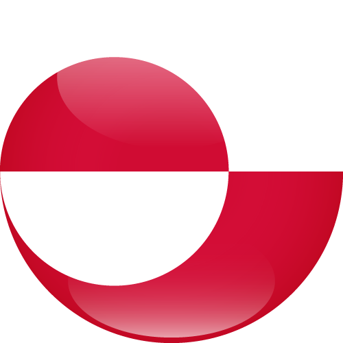 Vector flag of Greenland - Sphere